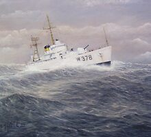 United States Coast Guard Cutter Halfmoon by William H. RaVell III