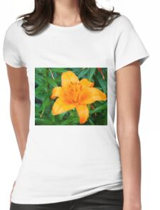 Orange Lily 3 Womens Fitted T-Shirt