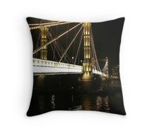 Albert Bridge, River Thames, London. Throw Pillow
