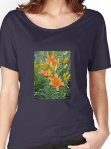 Orange Lily 5 Women's Relaxed Fit T-Shirt