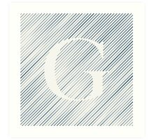 Striped G Art Print