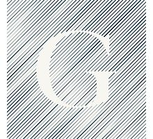 Striped G Photographic Print
