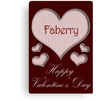 Faberry Happy Valentines Day Canvas Print