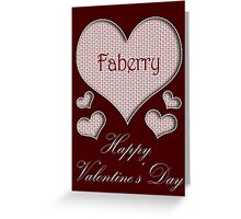 Faberry Happy Valentines Day Greeting Card