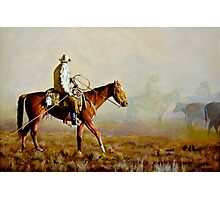 Dust Storm Hits the Cattle Drive Photographic Print