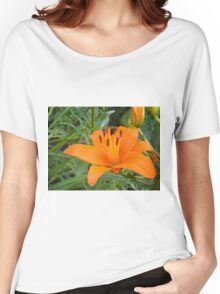 Orange Lily in the garden 2 Women's Relaxed Fit T-Shirt