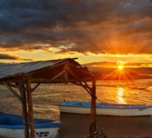 Sunset at the Delta of Aliakmonas Sticker