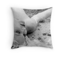 gladwrap bride Throw Pillow