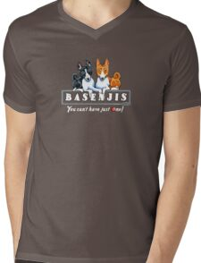 Basenjis: Can't Have Just One {dark} Mens V-Neck T-Shirt