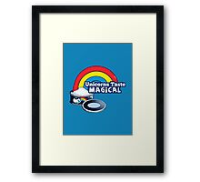 Magically Delicious | Funny Unicorn Shirt Framed Print