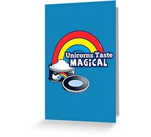 Magically Delicious | Funny Unicorn Shirt Greeting Card