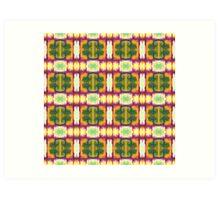 colorful blocks Art Print