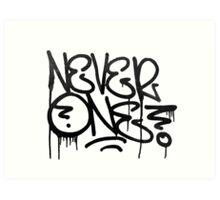 Dripping Graffiti Tag Art Print