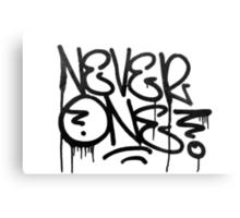 Dripping Graffiti Tag Canvas Print