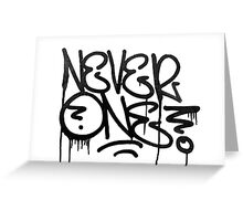 Dripping Graffiti Tag Greeting Card