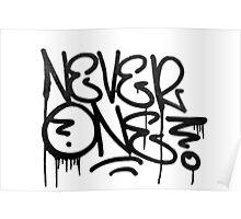 Dripping Graffiti Tag Poster