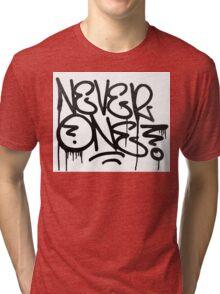 Dripping Graffiti Tag Tri-blend T-Shirt