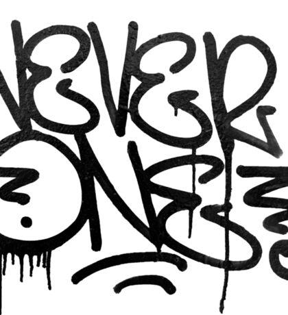 Dripping Graffiti Tag Sticker