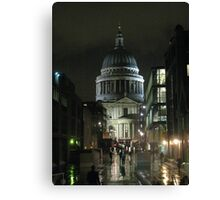 St Paul's Cathedral In The Rain Canvas Print