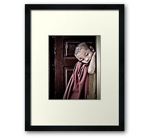 Timid Framed Print
