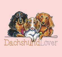 Longhaired Dachshund Lover One Piece - Short Sleeve