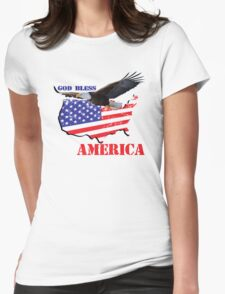 good bless america Womens Fitted T-Shirt