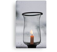 I will keep a candle in my window until you come home Canvas Print