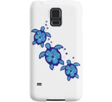 Blue Honu Hibiscus Turtles Samsung Galaxy Case/Skin