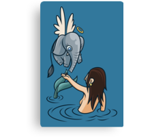 Mermaid and Friend Canvas Print