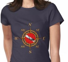 Diver And Dive Compass Womens Fitted T-Shirt