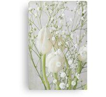 White flowerr Canvas Print