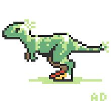 8-bit T-Rex by Ashley Dadoun