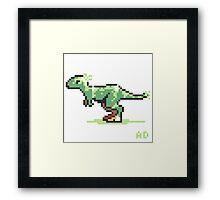 8-bit T-Rex Framed Print