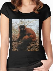 Lemur Laughter Women's Fitted Scoop T-Shirt