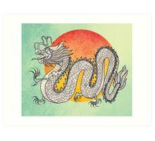 Champagne Dragon Art Print
