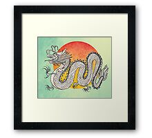 Champagne Dragon Framed Print