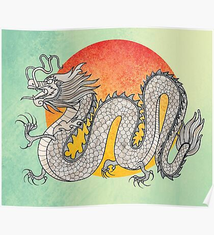 Champagne Dragon Poster