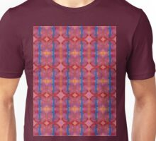 royal blue stripes and pink diamonds Unisex T-Shirt