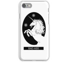 Black Bad Ass Unicorn  iPhone Case/Skin