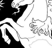 Black Bad Ass Unicorn  Sticker
