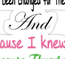 Wicked For Good Lyrics Sticker