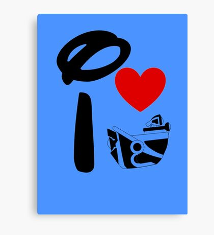 I Heart Astro Blasters Canvas Print