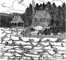 Lake House by holymountainart