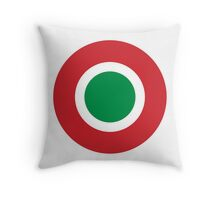 Roundel of the Italian Air Force  Throw Pillow