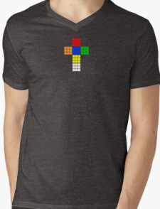 Rubik Mens V-Neck T-Shirt
