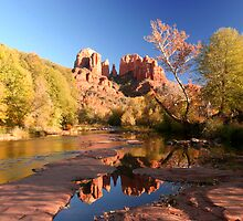 CATHEDRAL ROCK REFLECTION by MsLiz