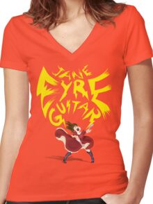 Jane Eyre Guitar Women's Fitted V-Neck T-Shirt