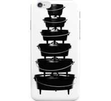 Cast iron dutch oven tower iPhone Case/Skin