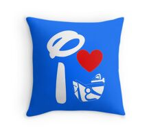 I Heart Astro Blasters (Inverted) Throw Pillow