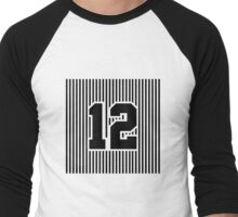 12th Man Simplistic Men's Baseball ¾ T-Shirt